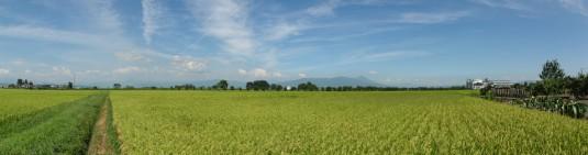 磐梯山を見る(ファミリーレストランあかべこ付近)