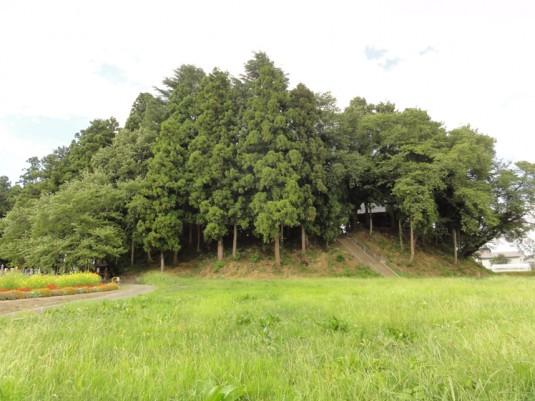 鎮守森古墳、八幡神社